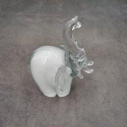 Regalos y artesanías Elefante Blanco arte del cristal de vidrio para el hogar o decoración de escritorio