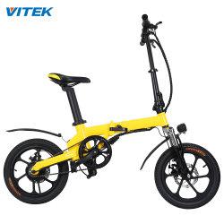 16インチのEのバイクの大人の小型電気折るバイクを折るFoldable電気バイクのリチウム電池