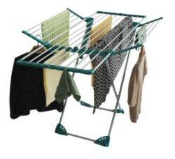 Wholesales Lavandaria de secar roupa roupas Airer Rack com asas titulares dobrável