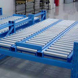 カスタム自動移動ターンテーブル重力電動アイドラチェーンパレット 包装 / パッケージ / 包装用ライブベッドローラーコンベア