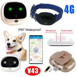 4G GPS van Lte het Waterdichte Volgende Apparaat van het Huisdier met Slimme LEIDENE Lichte V43