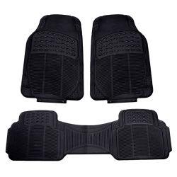 Schwarze Universalgummiauto-Fußboden-Matten-Allwetter- Schutz