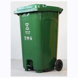 240L Lixeira caixote de lixo de plástico no exterior do recipiente de lixo Lixeira com Pedal