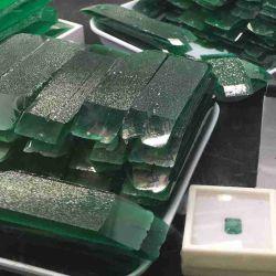 حراريّ مائيّ خضراء كولومبيّة خشن اصطناعيّة زمردة حجر كريم بالجملة
