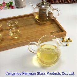 Tetera de vidrio pyrex alto Vidrio de borosilicato Tetera artesanal Don juego de té