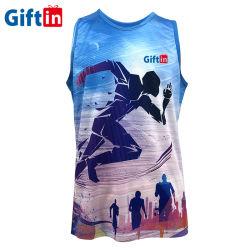 2020 neue beiläufige bequeme Sublimation-Marathon-Betrieb-Westekundenspezifisches Mens-Kleidungs-Trägershirt-Unterhemd