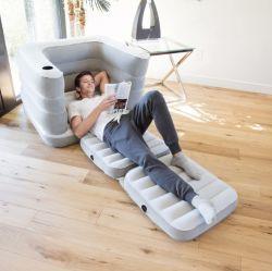 Два-в-одном Multi-Functional Flocking надувной диван дома на улице один Надувные кровати