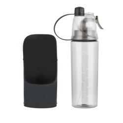 애완동물 워터컵, 외출컵, 이중 사용 스프레이 타입 휴대용 병용 개 건조기 플라스틱 물병
