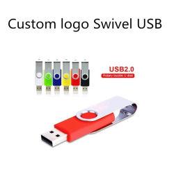 Consegna rapida in fabbrica all'ingrosso per unità flash USB a stock girevole Custodie senza chip USB in Small MOQ