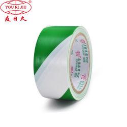 PVC 화살 안전 사려깊은 경고 테이프, 녹색 또는 백색