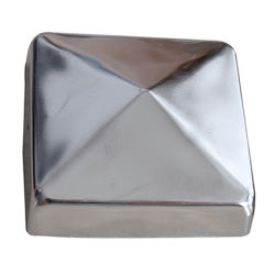 Cappucci quadrati decorati in acciaio inox