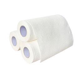 Öl, das 2 Schicht-Wasser-saugfähiges Küche-Seidenpapier-Tuch säubert