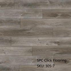 温水販売防水ラミネート加工木製プラスチック PVC LVT SPC クリック ビニール製の床張り