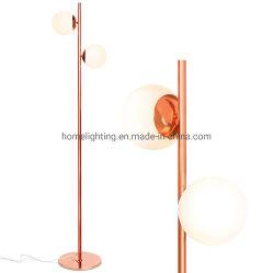 Jll-366 Напольный светильник современной современной матового стекла лампы Глоб с помощью двух ламп высокой полюс постоянного Uplight лампа для гостиной Ден Управление спальня старинной латуни