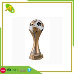 Prêmio de moda de liga de zinco Polyresin campeonato de futebol de futebol de vidro Prémio para o evento como Loja Dom 028)