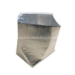 Sacchetti isolati a gettare termici isolati termici dell'alimento della fodera della casella della bolla del di alluminio per la consegna dell'alimento