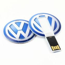 محرك أقراص USB محمول من نوع USB مصنوع من البلاستيك ببطاقات رخيصة تباع رائعة طباعة بالألوان سعة 2.0 جيجابايت وسعة 4 جيجابايت وسعة 64 جيجابايت مع ميزة الطباعة التلقائية الكاملة الماكينة