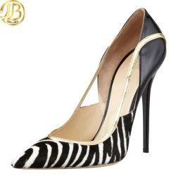 Moda Mujer vestido de novia zapatos de tacón alto con el patrón de animales