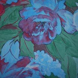 Padrão floral pintura a óleo PU para mobiliário de estofos de couro