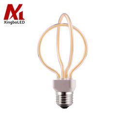 Couvercle en verre 6 W à intensité variable Ampoule à filament Two-Circle LED Flexible