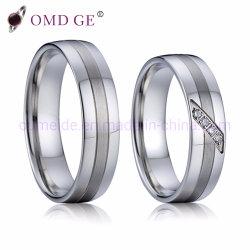Ring 925 van de Zilveren bruiloft van de luxe Echte voor Reeks