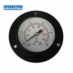 Silicone ou Oil-Filled Medidor de Pressão de Aço Inoxidável caso o manômetro /Black Placa/ Tipo de backup/ Marcação