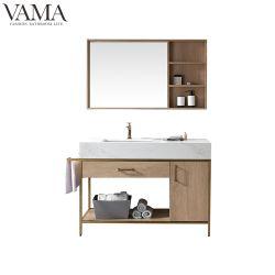 Governo dorato di vanità della stanza da bagno dell'acciaio inossidabile del nuovo hotel 2019 di Vama 1200mm con lo specchio chiaro 769052g del LED