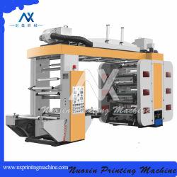 PP/PET/OPP/PVC/PE película de plástico de color de 6 máquinas de impresión flexográfica (tipo de pila)