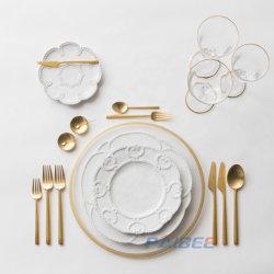 Insieme di pranzo vivente di arte del padellame cinese fine all'ingrosso della porcellana per gli articoli per la tavola di cerimonia nuziale