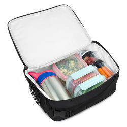 Personalisierbare, Isolierte, Faltbare Kühltasche Für Lunch Box Mit Farbdruck