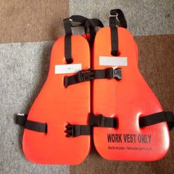 Trois pièces PVC Gilet de sauvetage de travail pour la vente