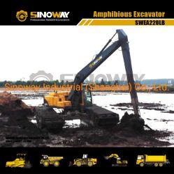 長い範囲ブームの柔らかい地勢のための水陸両用掘削機の泥地バギー