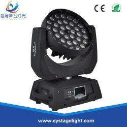 専門家36X10W RGBW 4in1のズームレンズの洗浄LED移動ヘッド段階ライト