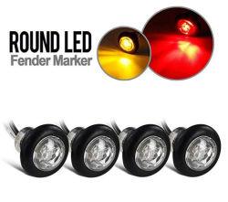 3/4인치 펜타곤 모양의 LED 사이드 마커 라이트 트럭 트레일러 측면 마커 조명