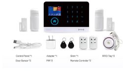 Multi Languages Home Security Alarm System Wireless GSM, Wireless Auto Alarm System