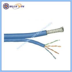 Conjunto de cabo de rede doméstica e de escritório RG6 Quad+Cat5e