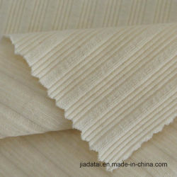 La nervure tricoté coton stretch polyester Tissu circulaire pour la tenue vestimentaire