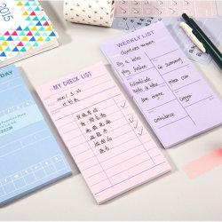도매 편지지 저널 스티커 각판 인쇄 패드 50 시트 쓰기 메모지 할 일 목록을 적어 둡니다