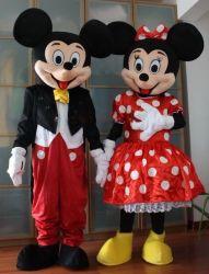 Группа шоу смешные взрослые Микки и Minnie талисман костюм