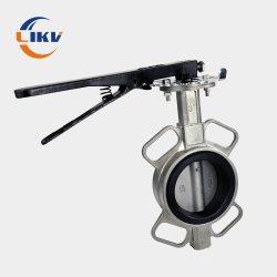 الفولاذ المقاوم للصدأ يتضمن شفة المشغل من الفولاذ المقاوم للصدأ طاقة شفة مزدوجة توفير 1 بوصة CF8 صمام فراشة سحب هوائي مع السعر List (القائمة)