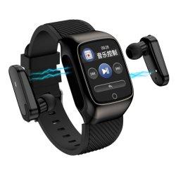 Fone de ouvido Bluetooth Bracelete inteligente chamada Bluetooth Tws Podômetro Freqüência cardíaca a sincronização de informações de saúde
