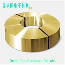 Plano de aluminio con aislamiento de cables/plana de aluminio de película de óxido de aluminio anodizado de cable/imán / cable de alambre del bobinado de Aluminio / Bobina de alambre de aluminio Óxido