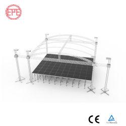 알루미늄 중부하 작업용 빔 휴대용 조명 볼트 트러스 디스플레이 트라이앵글 구조 콘서트 무대 시스템 트러스
