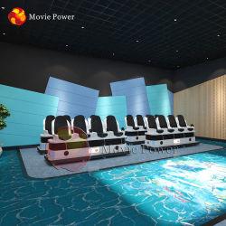 Facilité de maintenance de la réalité virtuelle 3 places de cinéma 9D VR Président simulateur de mouvement de théâtre de l'équipement
