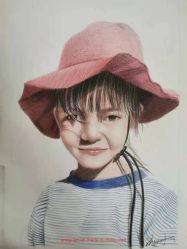 사진에서 손으로 만든 연필 스케치 세로 도면