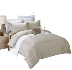 300t bordado de algodón puro juego de ropa de cama de edredón nórdico