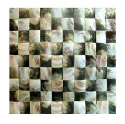 Venda por grosso de ladrilhos do mosaico da parede de moda da natureza Tingidos de mosaico de Shell para elementos de decoração