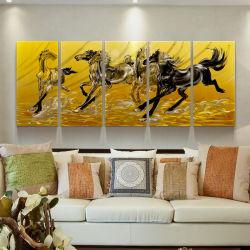 Animal cavalo 3D artesanal de metal pintura a óleo casa moderna parede decorativa Arts
