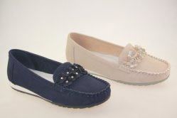 Estilo Popular Slip-on Flat Mocassins Mama Zapatos Zapatos de damas PU