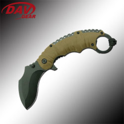 Outdoor Camping와 Survival.를 위한 440 Stainless Steel Blade 및 PP + TPR Twice Injection Handle를 가진 Bravedge 4.75 Inch Pocket Knife Eagle Claw II